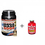 Weider Gainer Super Mega Mass 2000 1500 g + ATP NUTRITION BCAA MAX 100 caps.