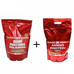 ATP NUTRITION BEEF PROTEIN ISOLATE 95% (1kg) + ATP NUTRITION Amino Protein 70% (750g)
