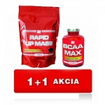 ATP NUTRITION RAPID UP MASS 1kg + ATP NUTRITION BCAA MAX 100 caps.ZDARMA