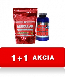 WHEY PROTEIN 80% Muscular (900g) + Mega BCAA 6000 Tabs